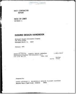 NASA-CR-124075 Isogrid Design Handbook