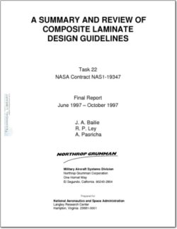 NASA-NAS1-19347 Cummary and Review of Composite Laminate Design Guidelines
