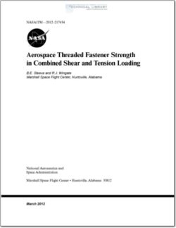 NASA-TM-2012-217454 Fastener Strength in Combined Shear and Tension Loading