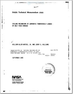 NASA-TM-87603 Fastener Pull-Through