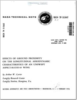 NASA-TN-D-5662 Effect of ground proximity on long characteristics on a AR10 wing