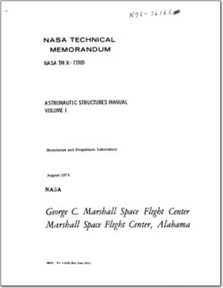 TM X 73305, ASTRONAUTICS STRUCTURES MANUAL (VOL1)