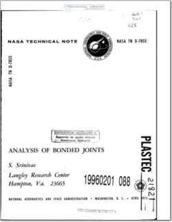NASA-TN-D-7855 Analysis of Bonded Joints
