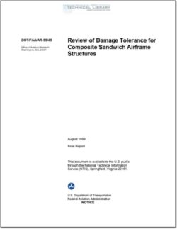 DOT-FAA-AR-99-49 Review of Damage Tolerance for Composite Sandwich Airframe Structures