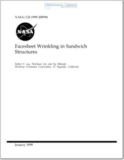 NASA-CR-208994 Facesheet Wrinkling in Sandwich Structures