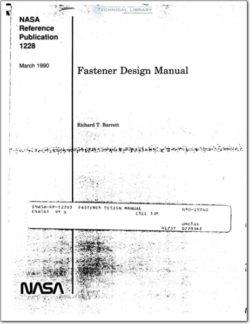 NASA-RP-1228 Fastener Design Manual