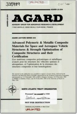 AGARD-LS-204 Advanced Polymeric & Metallic Composite Materials for Space and Aerospace Vehicle Structures and Strength Optimization of Composite Structures and their Certification