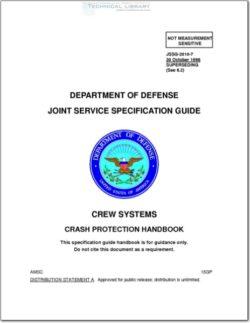 JSSG-2010 Crew Systems; Crash Protection Handbook