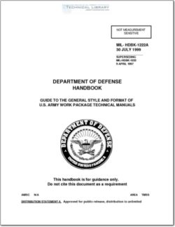 MIL-HDBK-1222A Guide to the General Style and Format of U.S. Army Work Package Technical Manuals