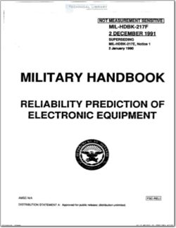 MIL-HDBK-217F Reliability Prediction of Electronic Equipment