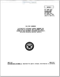 MIL-HDBK-263B Electrostatic Discharge  and Electronic Control Handbook
