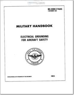 MIL-HDBK-274 Electrical Grounding for Aircraft Safety