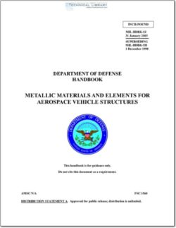 MIL-HDBK-5J Metallic Materials and Elements for Aerospace Vehicle Structures