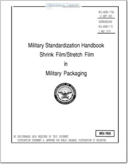 MIL-HDBK-770A Shrink Film-Stretch Film in Military Packaging