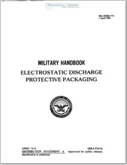 MIL-HDBK-773 Electrostatic Discharge Protective Packaging