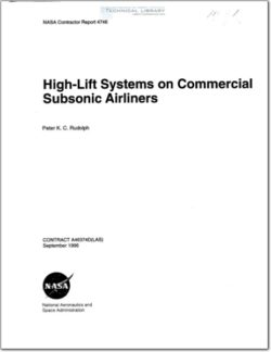 NASA-CR-4746 High lift Systems on Commercial Subsonis Airliners