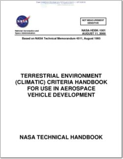 NASA-HDBK-1001 Terrestrial Environment (Climatic) Criteria Handbook for Use in Aerospace Vehicle Development
