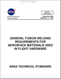 NASA-STD-5006 General Fusion Welding Requirements for Aerospace Materials Used in Flight Hardware