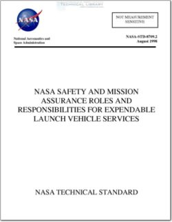 NASA-STD-8709.2 NASA Safety and Mission Assurance Roles and Responsibilities for Expendable Launch Vehicle Services