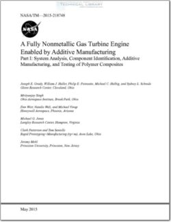 NASA-TM-2015-218748 A Fully Nonmetallic Gas Turbine Engine Enabled by Additive Manufacturing Part I; system Analysis, Component Identification, Additive Manufacturing, and Testing of Polymer
