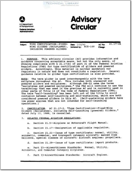 FAA-AC-21.17-2A : Abbott Aerospace SEZC Ltd.