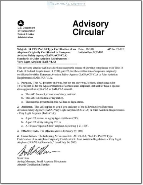 FAA-AC-23-11B : Abbott Aerospace SEZC Ltd.