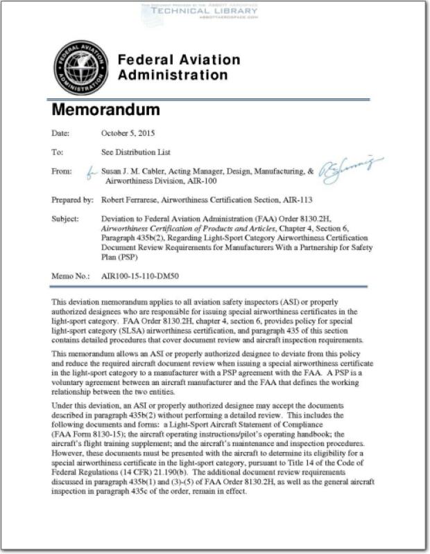 FAA-AIR-100-14-110-DM19 : Abbott Aerospace SEZC Ltd.