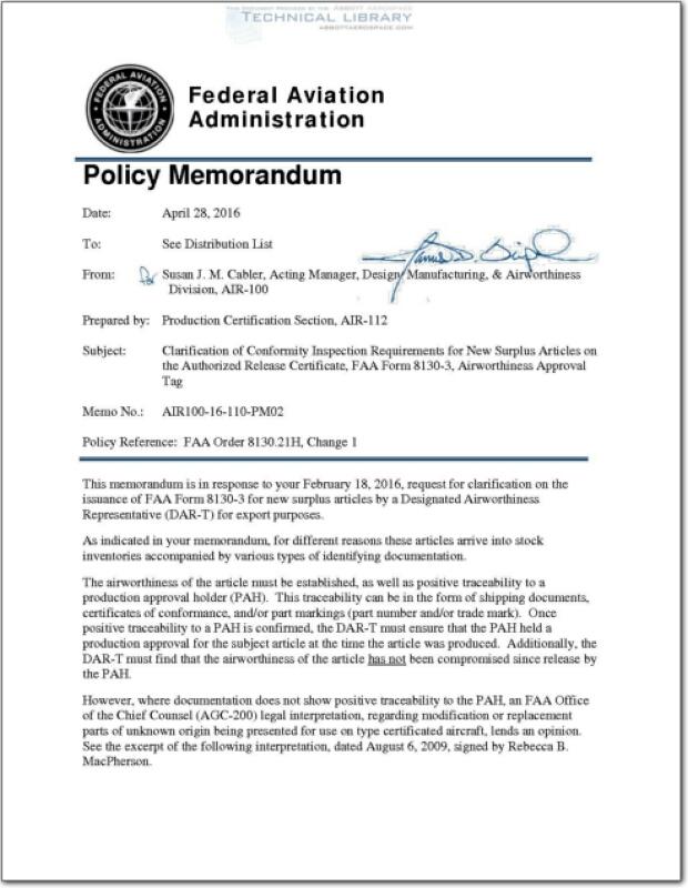 FAA-AIR-100-14-110-GM08 : Abbott Aerospace SEZC Ltd.