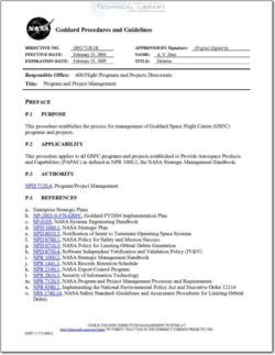 NASA-GPG-7120.1B Program and Project Management