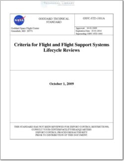 NASA-GSFC-STD-1001 Criteria for Flight and Flight Support Systems Lifecycle Reviews