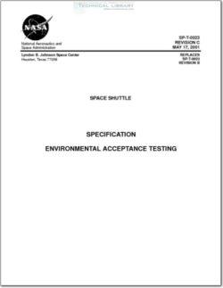 NASA-SPT0023RC Environmental Acceptance Testing