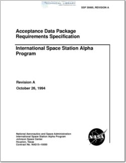 NASA-SSP30695RA Acceptance Data Package Requirements Specification