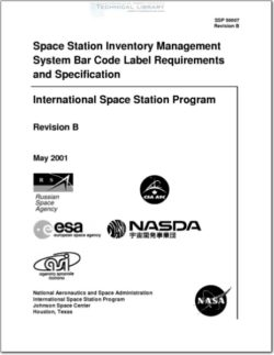 NASA-SSP50007RB Space Station Inventory Management System Bar Code Label Requirements and Specification