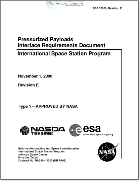 Nasa ssp57001rc abbott aerospace sezc ltd for Interface control document template