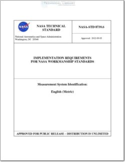 NASA-STD-8739-6 Implementation Requirements for NASA Workmanship Standards