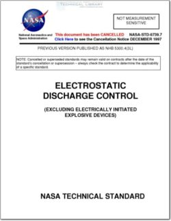 NASA-STD-8739-7 Electrostatic Discharge Control