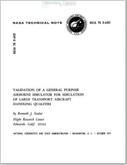 NASA-TN-D-6431 Validation of a General Purpose Airborne Simulator for Simulation of Large Transport Aircraft Handling Qualities