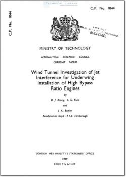 ARC-CP-1044 Wind Tunnel Investigation of Jet Interference for Underwing Installation of High Bypass Ratio Engines