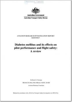 ATSB-B2005-0027 Diabetes Mellitus and its effects on Pilot Performance and Flight Safety; A Review