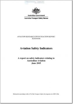 ATSB-B2005-0046 Aviation Safety indicators - A Report on Safety Indicators Relating to Australian Aviation - June 2005