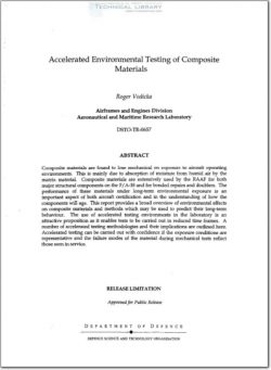 DSTO-TR-0657 Accelerated Environmental Testing of Composite Materials