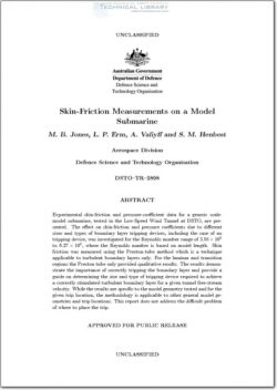 DSTO-TR-2898 Skin Friction Measurements on a Model Submarine