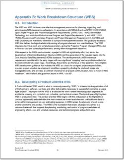 NASA-CEH-APP-B Appendix B; Work Breakdown Structure (WBS)
