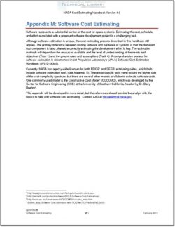 NASA-CEH-APP-M Appendix M; Software Cost Estimating