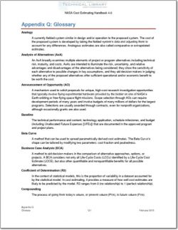 NASA-CEH-APP-Q Appendix Q; Glossary