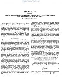 naca-report-846 Flutter and Oscillating Air Force Calculations for an Airfoil in a Two Dimensional Supersonic Flow-1