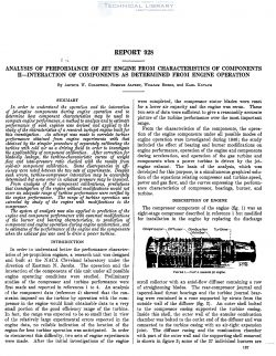 naca-report-928 Analysis of Performance of Jet Engine from Characteristics of Components, II - Interaction of Components as Determined from Engine Operation-1