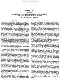 naca-report-990 An Analysis of Supersonic Aerodynamic Heating with Continuous Fluid Injection-1