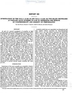 naca-report-999 Investigation of the NACA 4-(3)(08)-03 and NACA 4-(3)(08)-045 Two Blade Propellers at Forward Mach Numbersto 0.725 to Determine the Effects of Compressibility-1