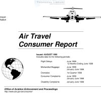 FAA – Air Travel Consumer Report – August 1999